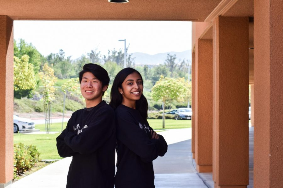 YOUR FRIENDLY NEIGHBORHOOD EDITORS: Seniors Sarika Rau and Michael Shi swing in with plenty of ideas to improve The Howler.