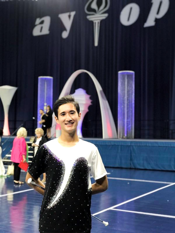 TWIRL-OFF: Zietz at South Bend, Indiana for the National Championships.