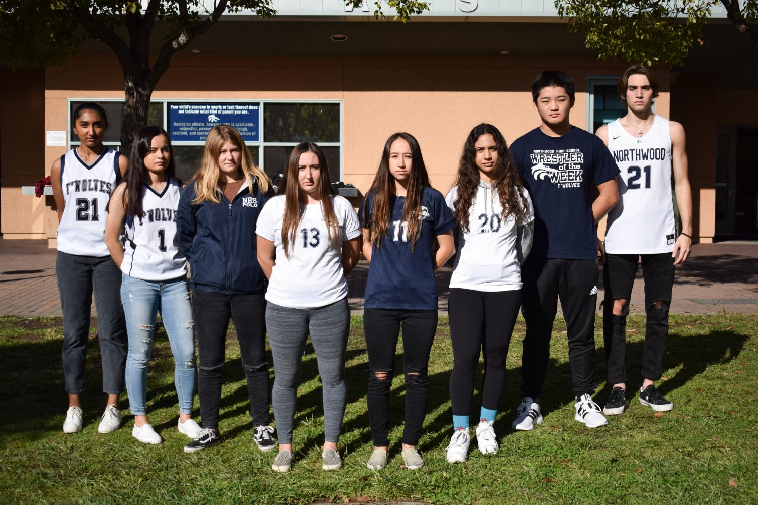 GAME FACE: This year's winter sports captains are ready to lead their teams to victory.