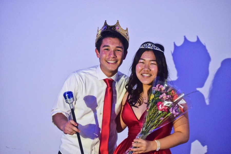 A FUJI FORMAL: Seniors Adam Fujiwara and Yukako Fujimori were crowned king and queen at formal on Jan. 17.
