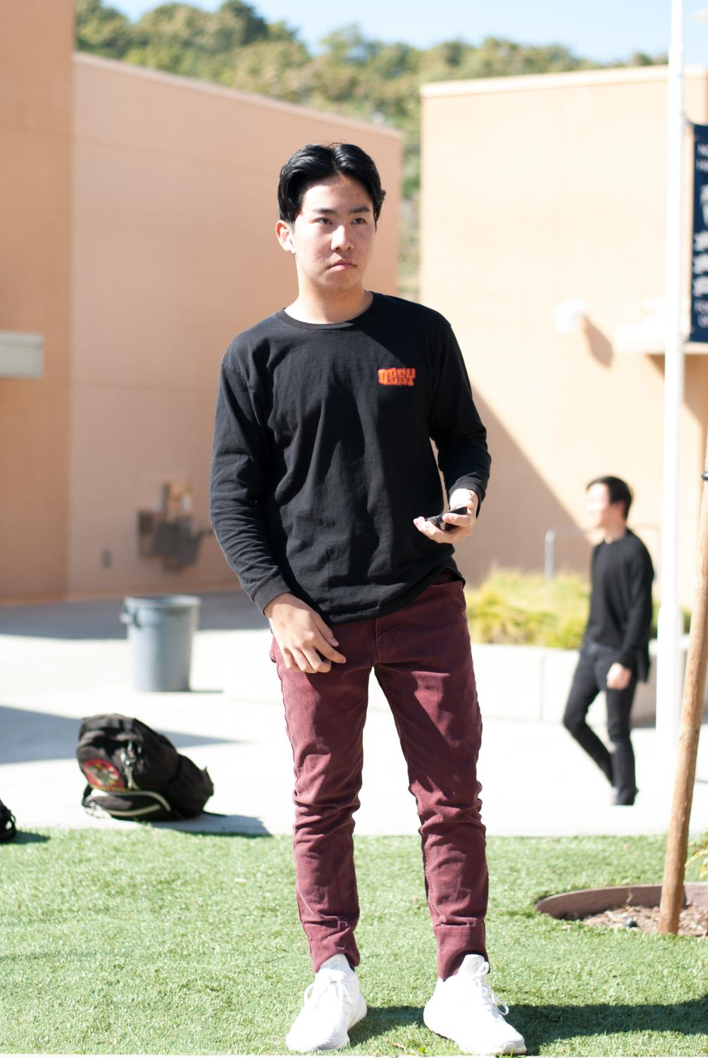 STYLIN' IT UP: Junior Cody Nakatsukasa sports the middle part.
