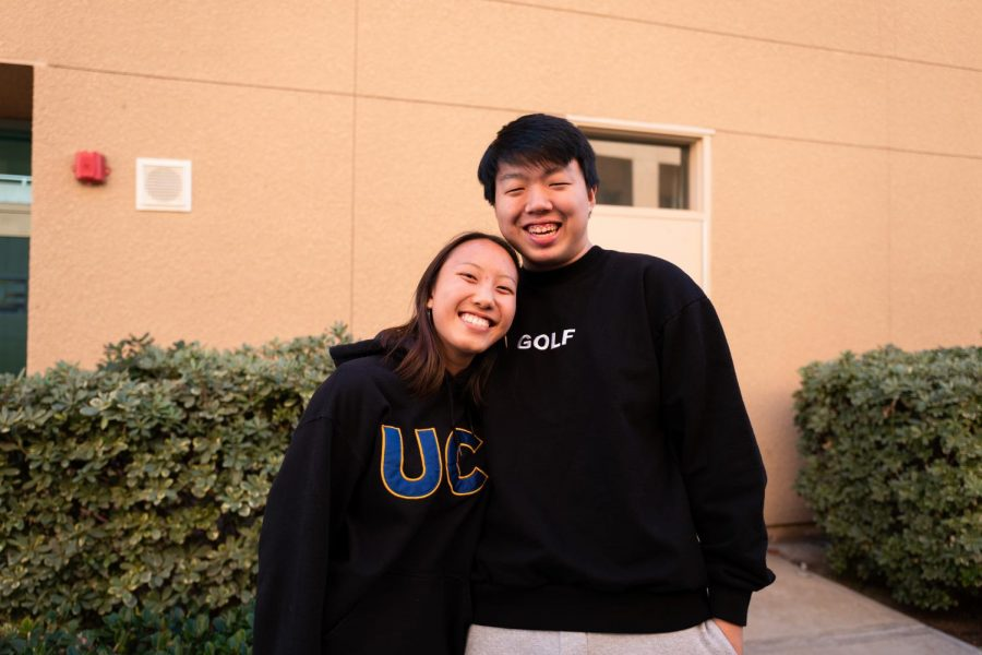 XOXO: Seniors Joanna Zhang and Eric Lin love to spend time together.