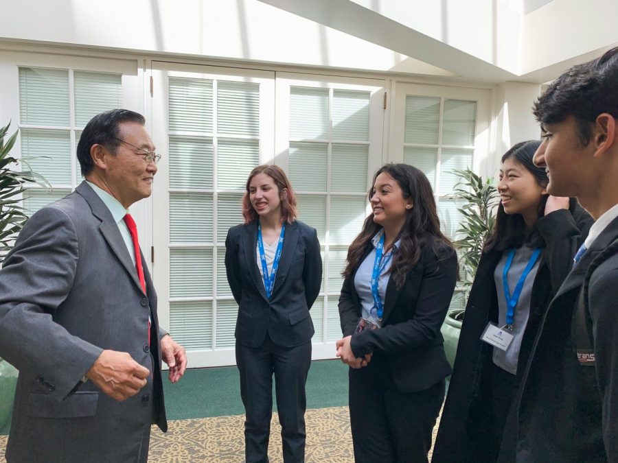 ADVOCACY IN ACTION: Northwood students visited the State Capitol on March 10 to meet and talk to representatives including State Assemblyman Steven Choi.