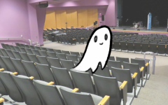 ALWAYS IN GOOD SPIRITS: Theater ghost Yugot Prankd happily prepares the theater for a special night of pranking before the unfortunate guests arrive for the concert.