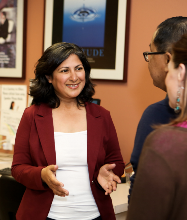 LOOKING FORWARD: Farrah Khan pushes for a progressive Irvine.