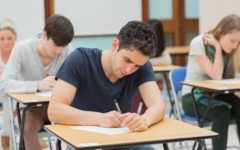 TEST DAY: Students take AP exams on test day after a year of studying.