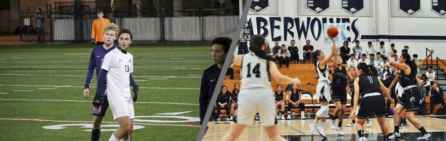 DYNAMIC DUO: Senior Mahmoud Ali watches his team execute on the pitch (left); Senior Lexi Chang drops in a shot over the defense (right).