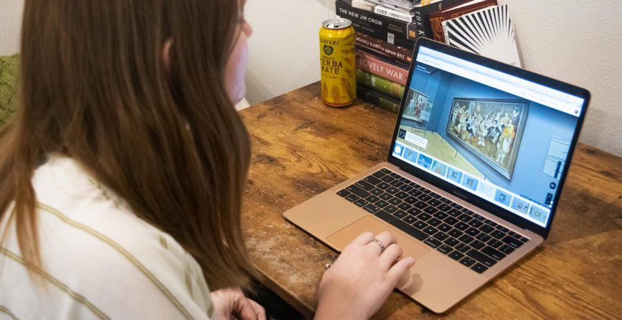 AN ADVENTURE WITHIN REACH: Sophomore Grace Carmichael virtually explores the art of the Rijksmuseum, a national museum of the Netherlands, in the comfort of her own home.