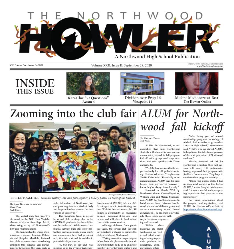 September Howler Volume XXII, Issue II