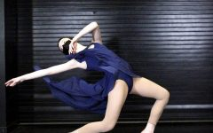 ELEGANCE: Senior Anessa Davies Pier begins a bent-legged lunge with a back arch outside of the dance room.