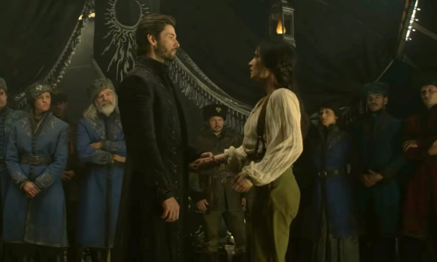 """""""You and I are going to change the world"""": Alina meets the Darkling (played by Ben Barnes) for the first time."""