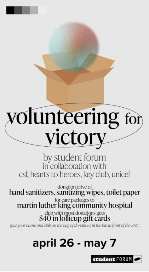The Volunteering for Victory drive brought together clubs from all walks of campus to collaborate towards a greater cause.