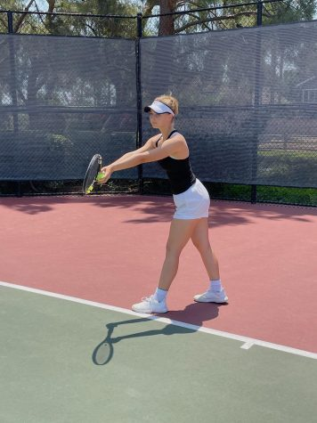 ONE YEAR EQUALS 365 OPPORTUNITIES: Vlasova practices tennis and the piano to use each moment.