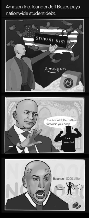 Amazon Inc. founder Jeff Bezos pays nationwide student debt.